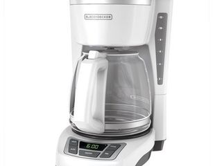 BlACK DECKER 12 Cup  Programmable Coffeemaker  White  CM1160W
