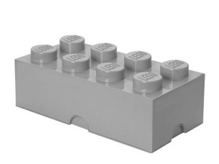 lEGO Storage 8 Brick Toy Box  Grey