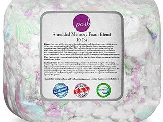 Posh Creations Foam Filling Bean Bag Refill  10lbs  Multi Color
