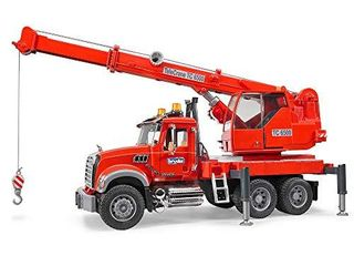 Bruder Mack Granite Crane Truck with light   Sound Vehicle