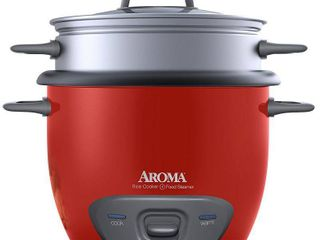 Aroma 6 Cup Rice Cooker and Food Steamer