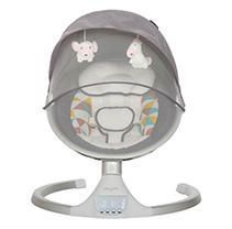 Dream On Me Zazu Cradling Swing in Grey and Pink