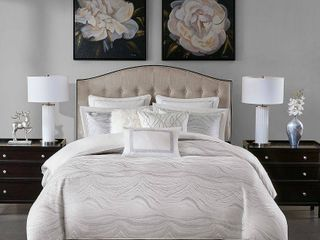 Madison Park Signature Hollywood Glam King 9 Piece Comforter Set Bedding