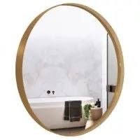 large Deep Gold Trim Mirror  32in