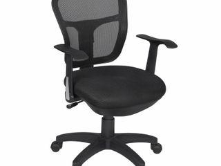 Harrison Swivel Chair Black   Niche