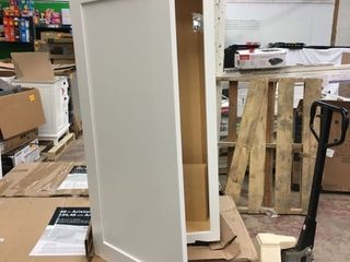White Hanging Cabinet   21 W x 41 5 H x 13 D
