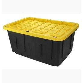 2 pack  only 1 lid  Centrex Plastics  llC Commander 27 Gallon Tote with Standard Snap lid