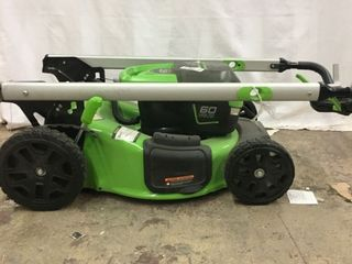 Greenworks Pro 60 volt Brushless lithium Ion Self propelled 21 in Cordless Electric lawn Mower