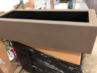 Polymade Planter Box   Brown   46 l x 18 W x 12 T