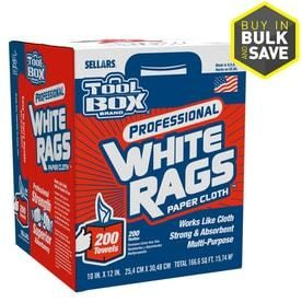 SEllARS 200 Count White Rags