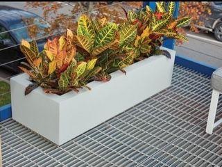Polymade Planter Box   White   46 l x 18 W x 12 T