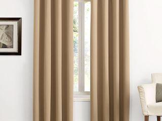 95 x54  Kenneth Energy Saving Blackout Grommet Top Curtain Panel Taupe   Sun Zero