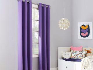 63 x40  Riley Kids  Bedroom Blackout Grommet Top Curtain Panel Purple   Sun Zero