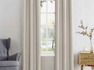 84 x40  Kenneth Energy Saving Blackout Grommet Top Curtain Panel Cream   Sun Zero