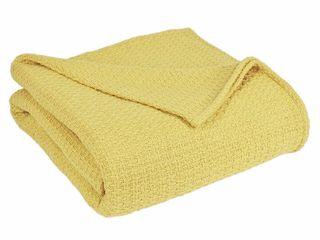 Grand Hotel Cotton Solid Blanket  Twin  lemon  Yellow    Elite Home