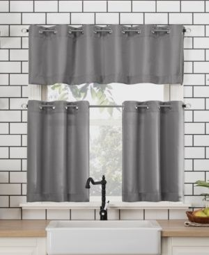 Dylan 54  x 24  Textured Valance and Tiers Set