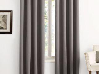 63 x54  Kenneth Energy Saving Blackout Grommet Top Curtain Panel Charcoal   Sun Zero
