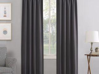 84 x40  Kenneth Rod Pocket Blackout Curtain Panel Charcoal   Sun Zero