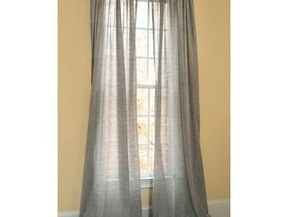 Manor luxe Essex Solid Sheer Rod pocket Single Curtain Panel