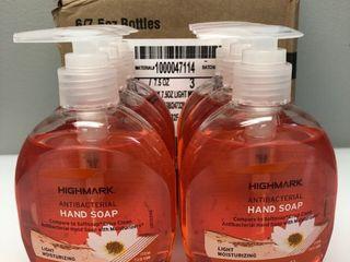 6 Pack Box   Highmark Antibacterial liquid Hand Soap  7 5 Oz