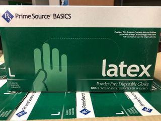 1000 count   Prime Source Basics large latex Gloves