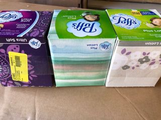 3 Pack   Puffs Ultra Soft White Cube Facial Tissues   56ct