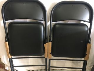 2 Pack   Folding Chairs  Black