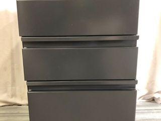 Grey Rolling Filing Cabinet w lock 27 5H x 15W x 18D