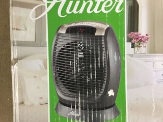 Hunter Digital Fan Heater with Oscillation and Thermostat HFU15 E   The Home Depot