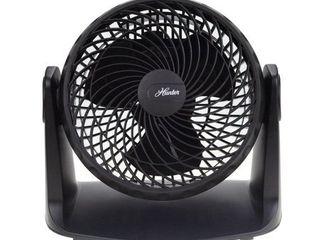 Hunter   8  Whisper Turbo Fan with Built In Wall Mounting Kit  Black