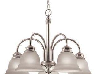 Project Source Fallsbrook 5 light Brushed Nickel Chandelier 0344605