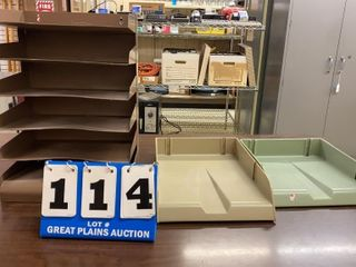 lot of 1 Metal and 2 Plastic Organizers