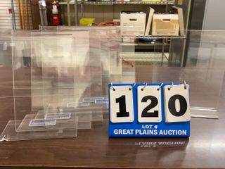 lot of 7 Clear Plastic Display Stands