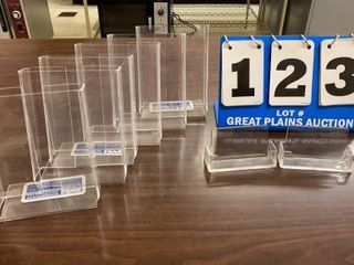 lot of 8 Clear Plastic Stands