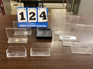 lot of 10 Clear Plastic Display Holders