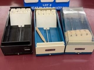 lot of 3 Business Card Files
