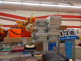 Fall decorations  5 wrapped slotted shoe boxes