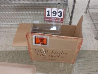 Wall plastic file holders