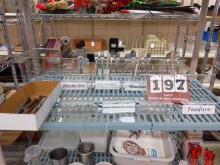 Steak knives  display silverware racks  assorted