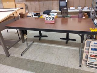 Adjustable height folding table 30 in by 72 in