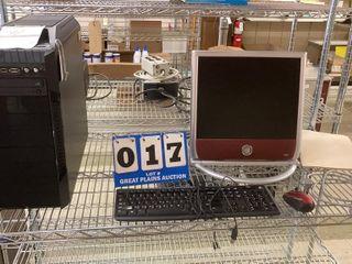 Desktop Computer and Monitor