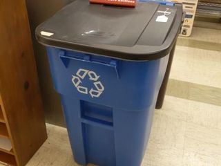 Rubbermaid recycle poly cart