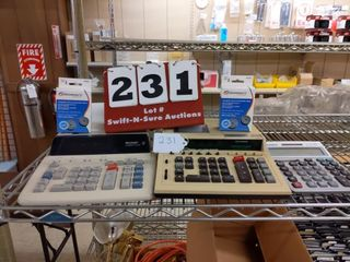 2 Sharp Ten keys  2 calculator spools