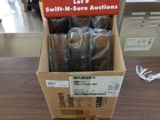 38  8 oz amber Tumblers plastic