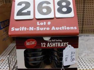 12 ashtrays