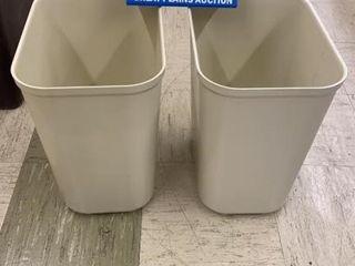 2 Rubbermaid Fire Resistant Waste Baskets