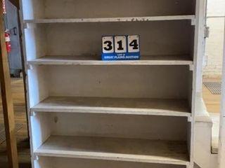 White Wooden Storage Shelf