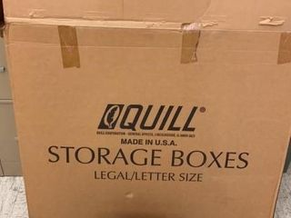 lot of 9 Cardboard Storage Boxes