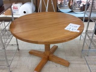 42  Round Wood Table