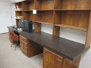 large Double Work Station w Storage